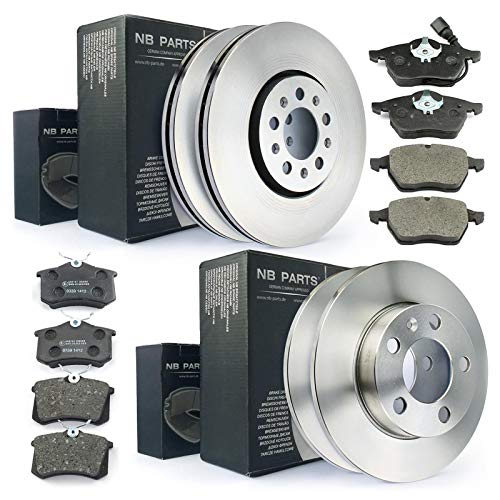 Frenos discos de freno + pastillas de freno delantero + trasero NB PARTS Germany 10041729