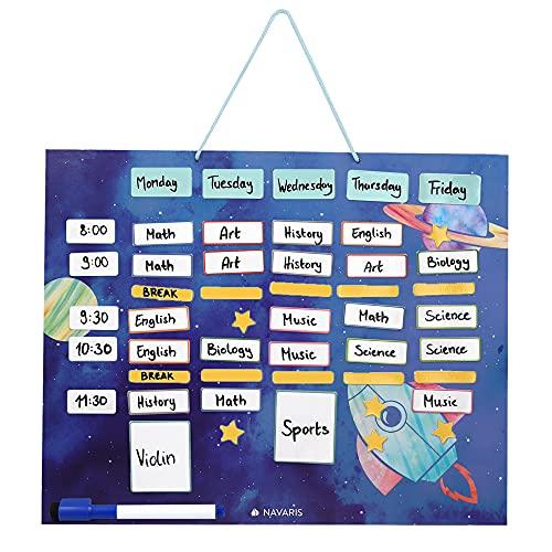 Navaris Horario magnético para niños - Planificador Organizador para la