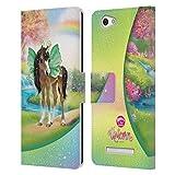 Head Hülle Designs Offizielle Animal Club International Immergrün Farben Fluegel Leder Brieftaschen Handyhülle Hülle Huelle kompatibel mit Wileyfox Spark X