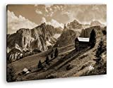einsame Hütte in den Bergen Format: 100x70 Effekt: Sepia