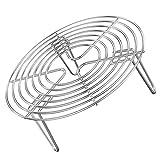 Hemoton Rejilla para Vaporizador de Acero Inoxidable Rejilla de Enfriamiento Redonda Rejilla para Trivet Soporte para Cesta de Vapor para Cocinar Al Vapor 20X7cm