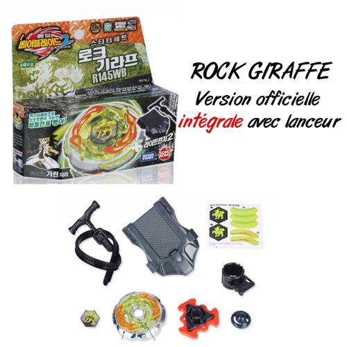 Beyblade Rock Giraffe–Version Oficial integral con lanzador–Nouvelle Saison Beyblade Metal Fusion 2(Metal Masters)