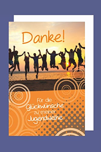 Jugendweihe Danksagung Karte 5er Set Tanz der Träume Grußkarte B6