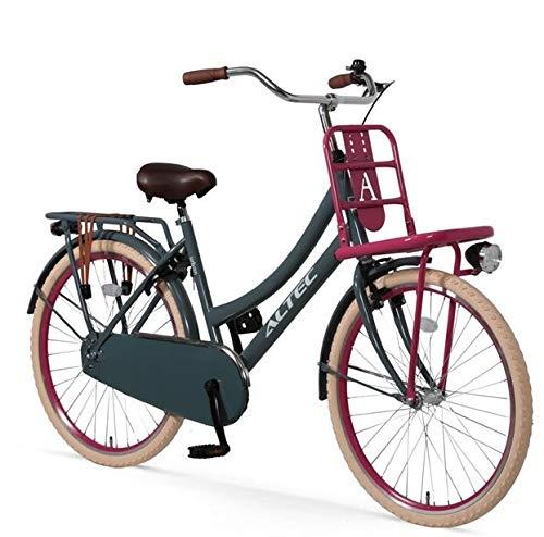 Mädchenrad 24 Zoll Altec Transportfahrrad grau-rosa
