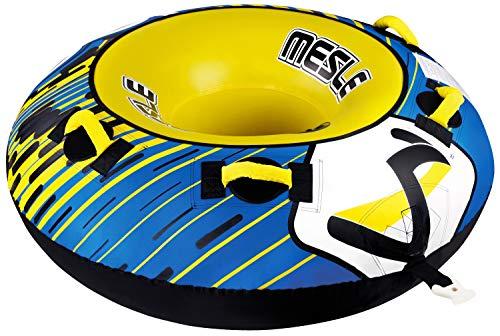 MESLE Tube Ringo 54\'\', Towable-Tube, 1 Person, Fun-Tube, 137 cm Wasser-Reifen für Kinder & Erwachsene, Wassersport, blau-gelb