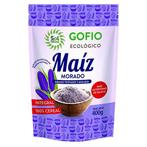 SOLNATURAL GOFIO di MAIZ Viola Integrale Bio 400 g, Standard, Unico