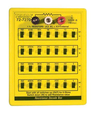 TENMA 72-7270 RESISTANCE DECADE BOX, 1 TO 11111110 OHM
