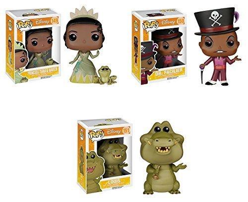 Funko POP! Disney: Tiana y el Sapo: Dr. Facilier + Tiana y Naveen + Louis