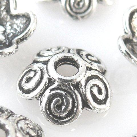 10 Perlenkappen Endkappen 10mm Perlkappen silber Kappen für Perlen -1285