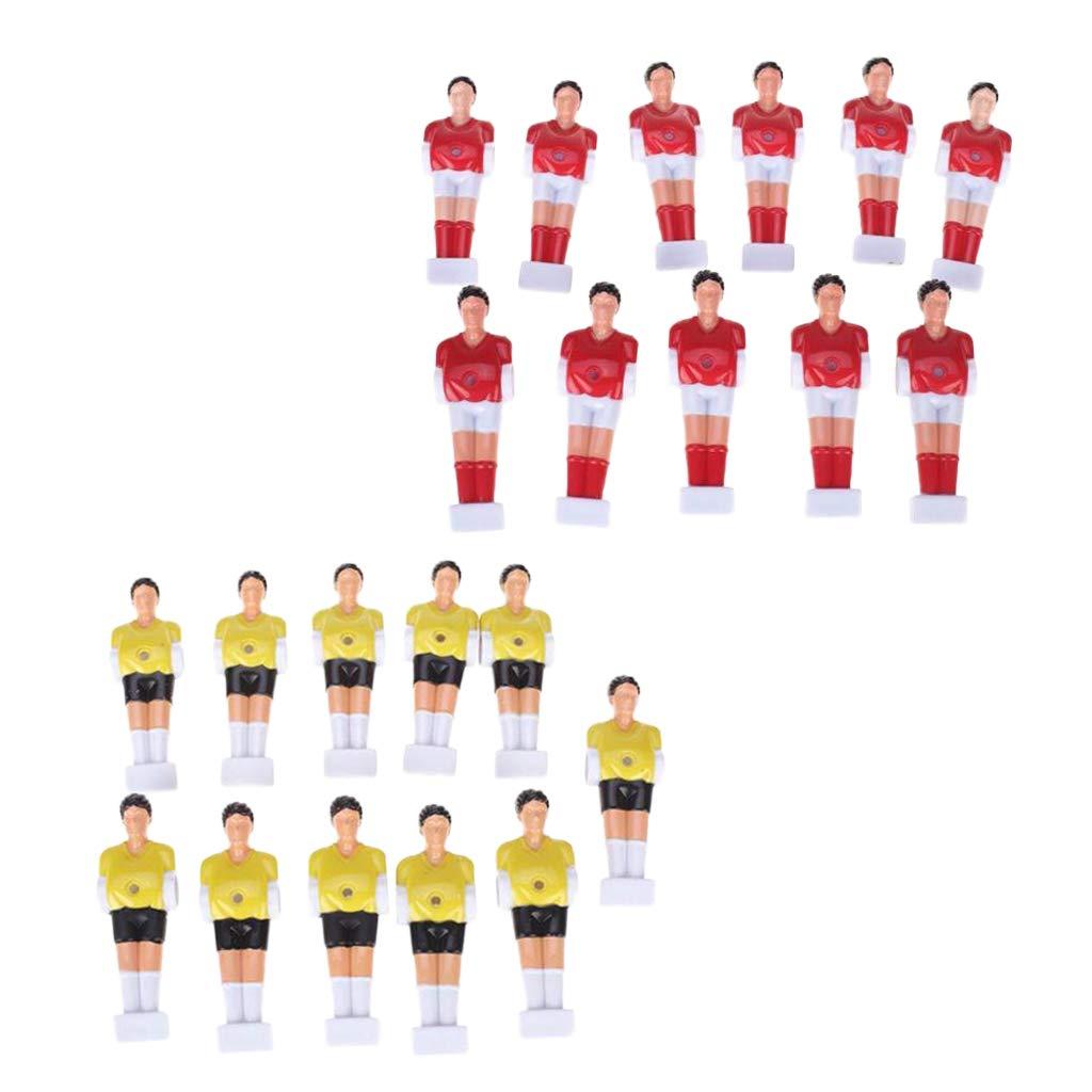 Baoblaze 22 Piezas de Muñecas de Reemplazo de Futbolín de Mesa Football Men Rojo y Amarillo Hecho de Material Plástico Duro: Amazon.es: Deportes y aire libre