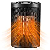GUKOK Space Heater, 1500W / 750W Electric Ceramic Heater with Overheat Protection & Tip-Over Protection, Fast Heating Small Personal Heater for Home, Office, Bedroom, Desk, Small Room, Indoor Use
