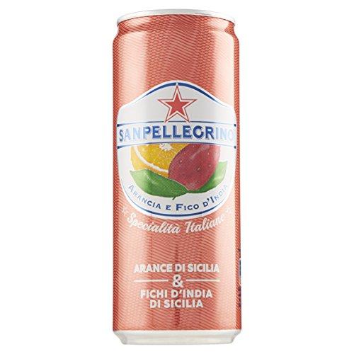 Sanpellegrino Bibita Analcolica Gassata con Arance di Sicilia e Fichi d'India - 330 ml