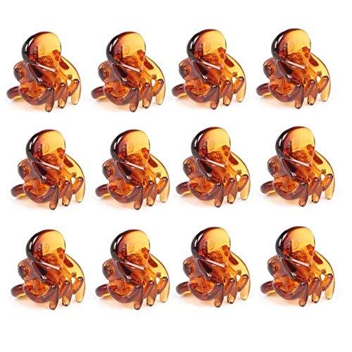 JINMENHUO 12 Pcs/ensemble En Plastique Griffes Épingle À Cheveux Mini Pur Mignon Pince À Cheveux Cheveux Styling Pin Loisirs Bain Cheveux Accessoires Chapeaux, 03