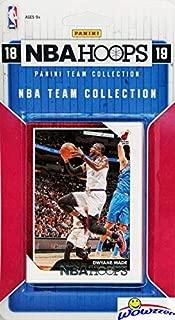 Miami Heat 2018/2019 Panini Hoops NBA Basketball EXCLUSIVE Factory Sealed Limited Edition 8 Card Team Set with Dwyane Wade, Goran Dragic, Hassan Whiteside,Josh Richardson & Many More! WOWZZER!