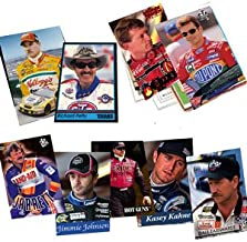 40 Racing Hall-of-Fame and Superstar Cards Collection Including Drivers such as Dale Earnhardt Jr., Kasey Kahne, Jeff Gordon, Tony Stewart, Jimmie Johnson, Kevin Harvick, Matt Kenseth, Kyle Busch, Carl Edwards, Terry Labonte, and Richard Petty. Ships in Protective Plastic Case Perfect for Gift Giving.