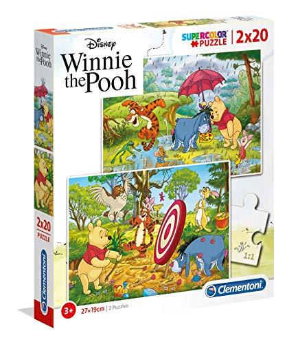 Clementoni- 2 Puzzles 20 Piezas Winnie The Pooh, Multicolor (24516.1)