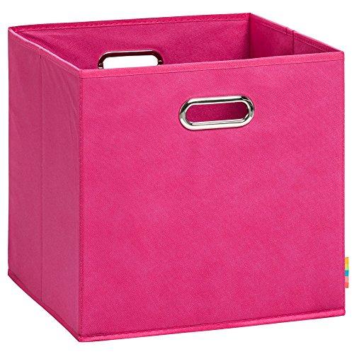 Schmetsdorf (H&S) Aufbewahrungsbox LEA - Faltbox - Korb - 33x33x33 cm - (Pink)