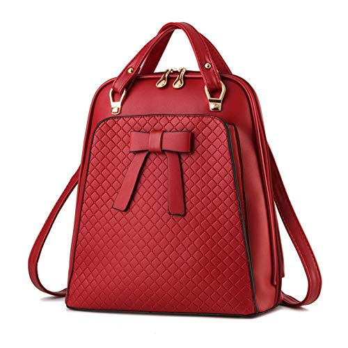 BAFEYU Women Backpack Ladies Elegant Rucksack Fashion PU Leather Flap Backpacks Casual Daypack for College Girls