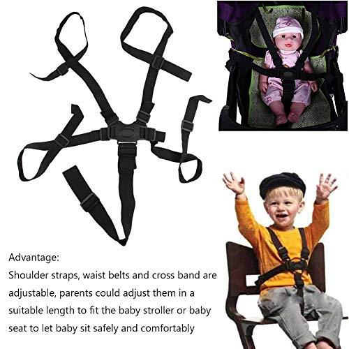 2PCS Cintura di sicurezza regolabile universale per neonato 5 punti Cintura di sicurezza per imbracatura per passeggino Passeggino per passeggino