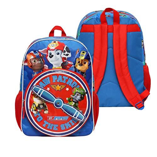 Paw Patrol Mochila para niños y niñas, Azul, Una talla