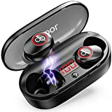Wireless Earbuds, 2020 Upgraded 33H Playtime, Waterproof Bluetooth Headphones 5.0 with Charging Case, VEATOOL Mini in Ear Earphones Premium Stereo Sound Ear Buds, Built-in Mic