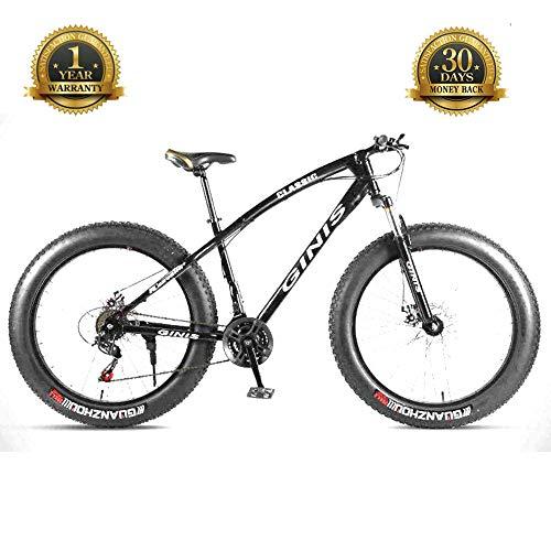 TBAN Bicicletas De Fondo, Bicicletas De Playa para Nieve, Bicicletas De Montaña con Neumáticos Ultra Anchos, Hombres Y Mujeres Adultos, Bicicletas para Estudiantes,B,24speed