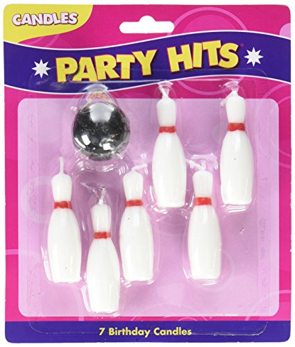 7pc Bowling Pins and Ball Candle Set