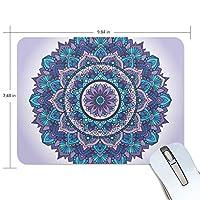 マウスパッド かわいい 紫 曼荼羅の花 高級 ノート パソコン マウス パッド 柔らかい ゲーミング よく 滑る 便利 静音 携帯 手首 楽