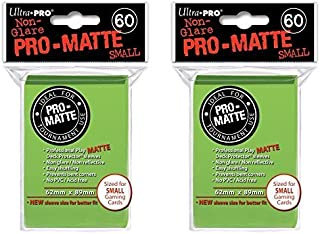 120 Ultra Pro Lime Green Small PRO-Matte Deck Protectors Sleeves Colors Yugioh Vanguard [2 Packs of 60]