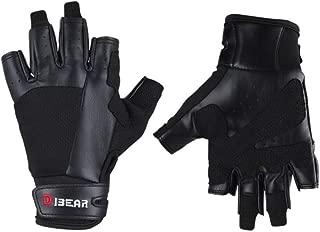 DIBEAR Padded Weight Lifting Gloves, Gym Gloves, Workout Gloves, Climb Gloves, Exercise Gloves for Powerlifting, Fitness, Cross Training for Men & Women