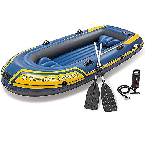 Pulley Kayak Inflable Goma Barco, 2 Personas colchón Aire Inflable con Bomba De Aire, Cuerda De Remo Barco Pesca, Barco balsa,Aplicar para Deportes acuáticos