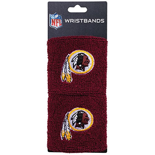 Franklin Sports Washington Redskins NFL Wristbands - Youth NFL Team Logo Wristbands - Great for Costumes and Uniforms - Pair of Wristbands