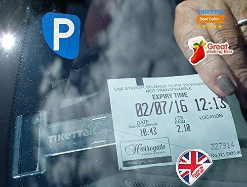 Tikettak, Parkscheinhalter für die Windschutzscheibe, für Parkscheine, Genehmigungen und Notizen, für Autos, Transporter und Wohnmobile (Bußgelder vermeiden)