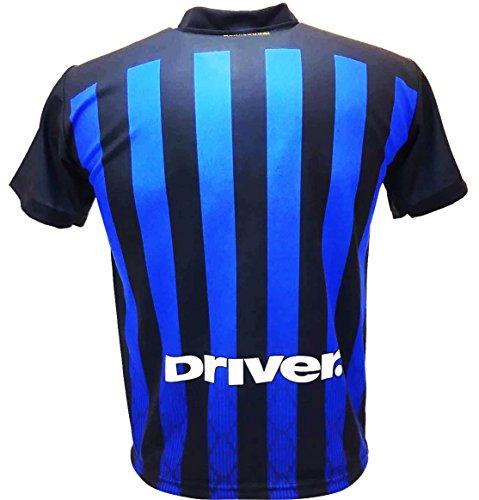 F.C.Internazionale Trikot Inter 2019 Neutral ohne Name Offiziell Saison 2018/2019 Zulassungsnachbildung Schwarz Blau (10 Jahre)