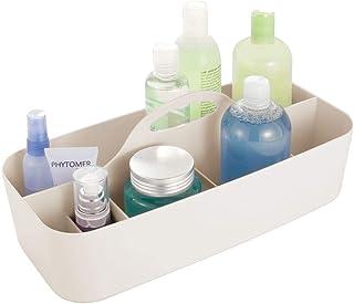 mDesign panier de salle de bain en plastique avec poignée – rangement cosmétiques, cuisine ou range-torchons – petite boît...