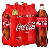 Coca-Cola Bebida Refrescante Aromatizada - 6 Botellas x 2000 ml - Total: 12000 ml