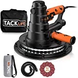TACKLIFE Plasterboard Sander, Sander with LED Light and 12 Pcs Sanding Disc, Self-Cleaning 800W Giraffe Ceiling Sander with Dust Hose and Dust Bag, Variable Speeds PDS03B