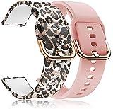 ID205L Cinturino per smartwatch,Banda di ricambio floreale stampata in silicone morbido a...