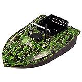 JZDHAOANHE GPS Barco Cebo Pesca, Barco Cebador, Señuelo RC Barco De Pesca, Barco de Cebo Inteligente Inalámbrico Buscador de Peces con Doble Motor,1,5Kg De Carga Asistida Pesca Herramienta,Camuflaje