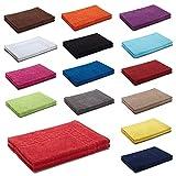 AR Line 2er Packung Duschvorleger Badvorleger Badematte 50 x 70 cm 100% Baumwolle 700 g/m², Farbe: Orchidee