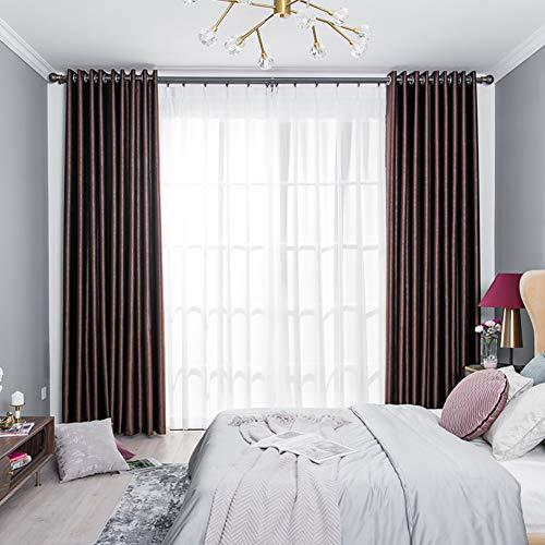 fgdsa Dicke Blackout Vorhänge,Haken Stil Licht Blockieren Dehänge,Thermal Dimout Vorhänge Für Schlafzimmer Schlafzimmer Verdunkelung,1stk B W350*h270cm(138x106inch)