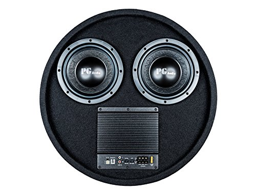 PG Audio Aktiver Reserverad Subwoofer Reserveradmulde 2 x 8 Zoll,1 Stück Neu