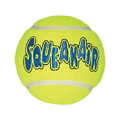 KONG Squeakair Ball - Pelota de Tenis Sonora para Perros de Raza Mediana ✅