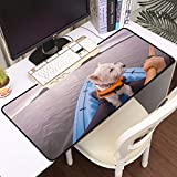 Large Waterproof Gaming Mouse Mat for Mouse,West Highland White Terrier Westie Dog Wearing