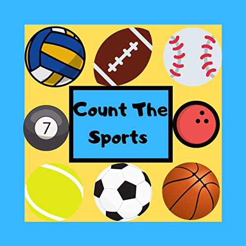 Count The Sports: Picture Puzzle book for toddlers kids and preschoolers | Activity Search and Find Game for Little Children | 2-5 Year Old | Sports Lovers Enthusiasts | Cute gift ideas for kids