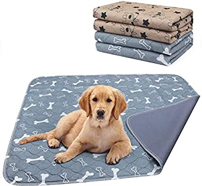 AK KYC Large Puppy Training Pads (80x90cm) 2 Pack Machine Washable Pee Pads for Dogs Super Absorbency Pet incontinence pads
