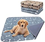 AK KYC 2 Pack Washable Pee Pads for Dogs Puppy Pads Dog Training Pad Waterproof Reusable Fast Absorbent Travel for Dog(35x 31)