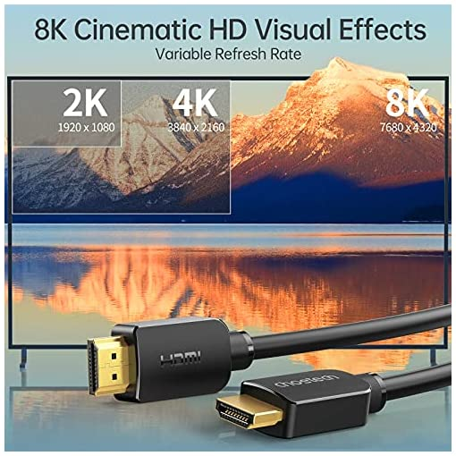 Cable HDMI 8K 6.6FT/2M, CHOETECH High Speed 48Gbps Ultra HD 8K@60Hz 4K@120Hz Cable HDMI a HDMI, eARC HDR Compatible… 2
