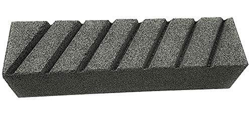 Zische Handschleifstein/Schruppstein/Rutscher, 200 x 50 x 50 mm, 7-fach geschlitzt, Siliciumcarbid, FEPA Körnung 36, für Beton und Estrich, Schleifstein grob