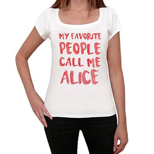 Alice Camiseta Mujer Camiseta con Palabra Camiseta Regalo